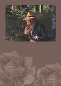 Faire-part de décès gravure de fleurs (personnalisation 1)