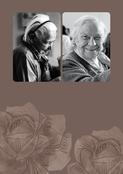 Faire-part de décès gravure de fleurs (personnalisation 5)