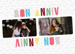 Carte Bon anniv personnalisé avec vos photos Carte anniversaire personnalisée