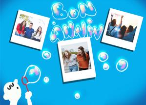 Carte Bon anniversaire en bulles de savon Carte anniversaire personnalisée