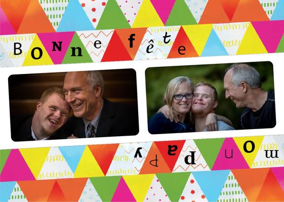 Carte Bonne fête mon papi colorée et joyeuse Carte de fête des grands-pères